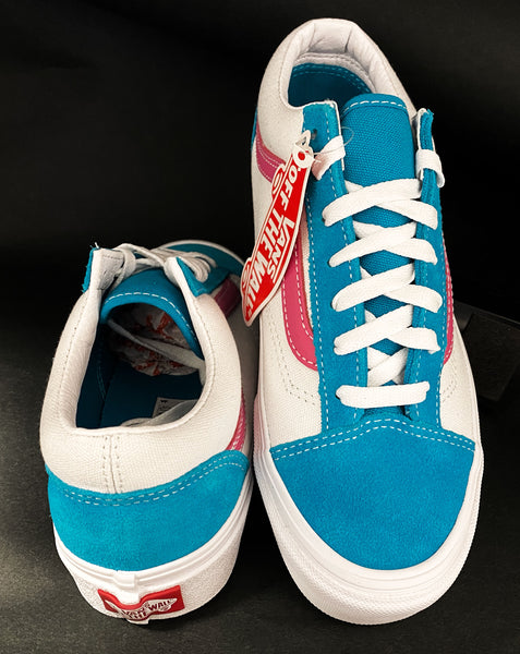 Vans 36 Retro Miami Colors White Pink Turquoise Limited Skate Shoes