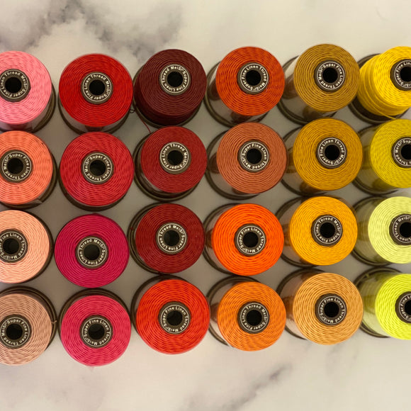 Linen Thread - MeiSi SuperFine: Warm Colors