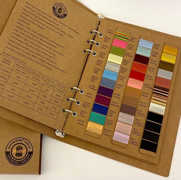 Linen Thread - MeiSi SuperFine Swatch Color Booklet