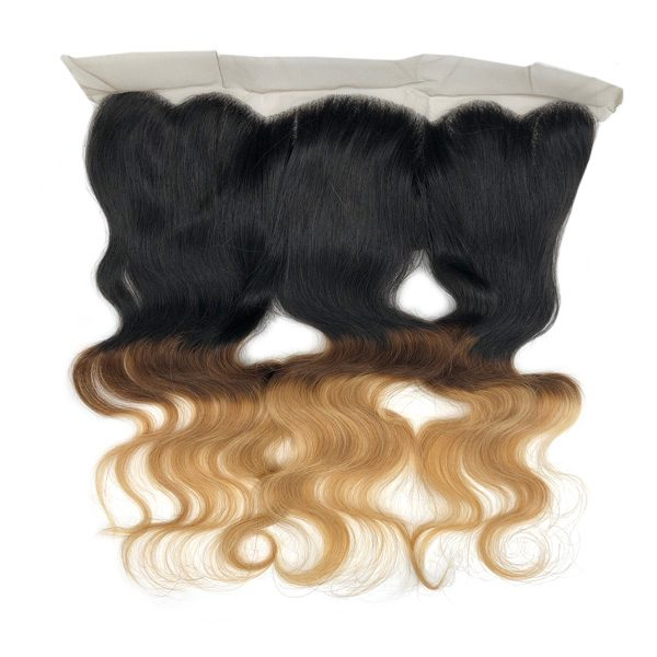 3 Color Ombre Body Wave Frontal