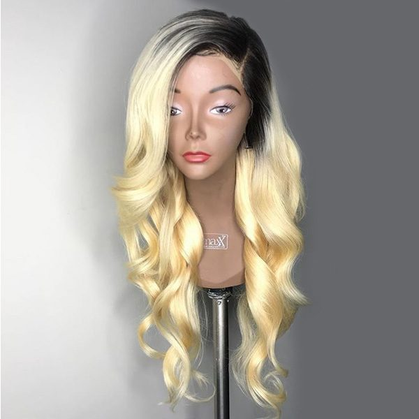 Black Root Blonde Body Wave Wig