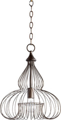 0-007760>13 inchw 1-Light Pendant Oiled Bronze