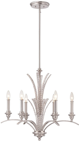 0-017768>Grand Plazza 6-Light Chandelier Satin Platinum