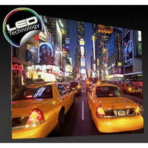 0-000848>Late Night Taxi on Time Square LED Enhanced Canvas Wall Art