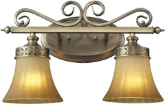 0-029196>16 inchw Claremont 2-Light Bathbar Colonial Bronze