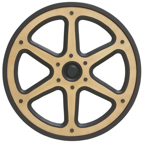 0-023865>Vintage Decorative Wooden Movie Reel
