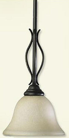 0-009079>OPEN BOX Spencer 1-Light Pendant Mystic Silver