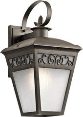 0-017265>19 inchh Park Row 1-Light Outdoor Wall Olde Bronze