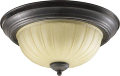 0-012578>14 inchw 2-Light Flush Mount Fixture Toasted Sienna
