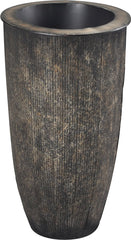 0-110740>23 inchh Antique Bronze Floor Vase Dark Bronze