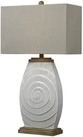 0-023252>1-Light 3-Way Table Lamp Fauborg Glaze with Light Wood Tone Accents