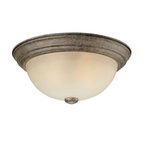 0-000205>2 Light Ceiling Fixture Traditional Creek Stone