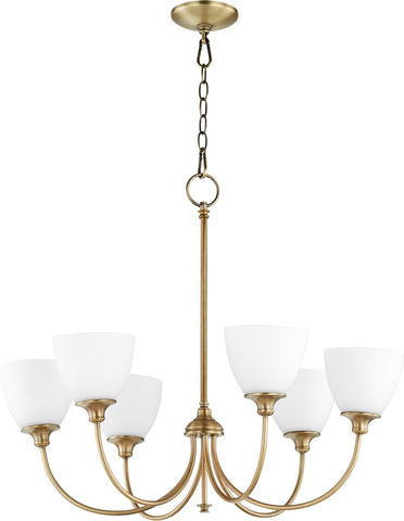0-002780>Celeste 6-light Chandelier Aged Brass