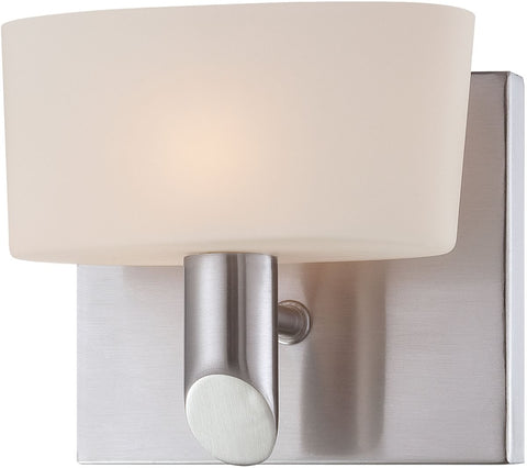 0-007155>Toby 1-Light Vanity Satin Nickel/White Opal Glass