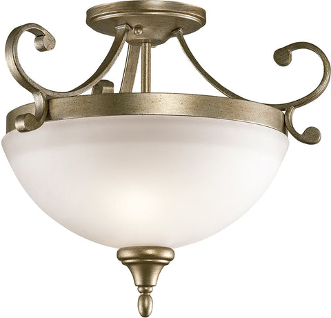 0-012198>Monroe 2-Light Sterling Gold Semi Flush Light