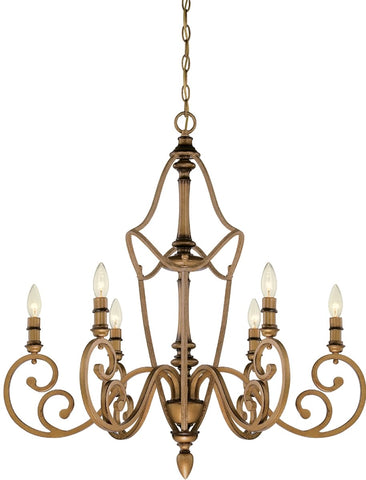 0-016867>Isla 6-Light Chandelier Aged Brass
