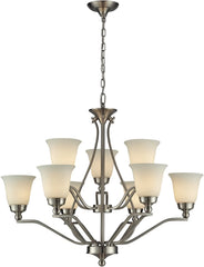 0-015616>Sullivan 9-Light Chandelier Brushed Nickel