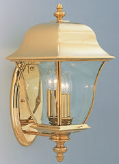 0-001073>21 inchh Gladiator Outdoor PVD Wall Lantern Polished Brass