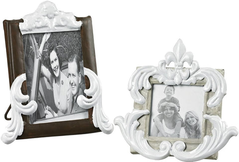 0-023424>Picture Frame Richland Grey/Bronze With White