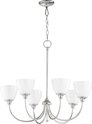 0-002760>Celeste 6-light Chandelier Polished Nickel