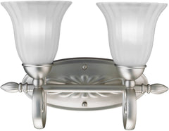 0-012187>8 inchw Willowmore 2-Light Wall Mounted Bath Fixture Brushed Nickel