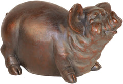 0-006561>Pudgy Porky Statue Copper
