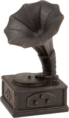 0-017411>Polystone Gramophone Decorative Accent