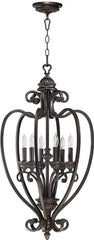 0-013613>18 inchw Summerset 6-Light Hall/Foyer Pendant Toasted Sienna