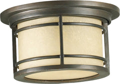0-002697>11 inchw Larson 1-Light Outdoor Flush Mount Oiled Bronze