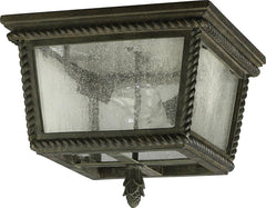 0-003788>14 inchw Rochelle 2-Light Outdoor Flush Mount Etruscan Sienna
