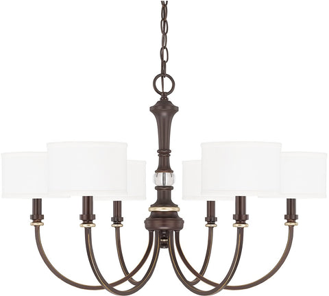 0-023906>Asher 6-Light Chandelier Champagne Bronze