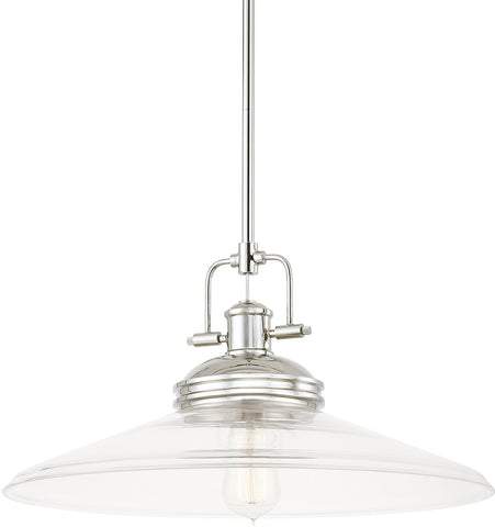 0-017915>Pendants 1-Light Pendant Polished Nickel