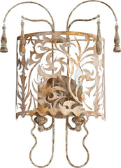 0-002894>Leduc 2-Light Wall Mount Florentine Gold