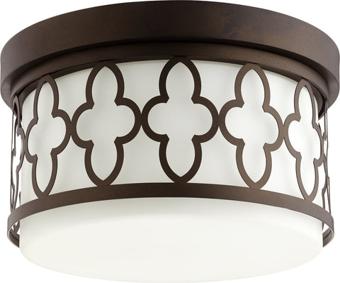 0-005780>2-light Ceiling Flush Mount Oiled Bronze