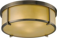 0-026773>Flushmounts 3-Light Flushmount Antique Brass