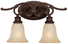 0-016485>18 inchw Hill House 2-Light Vanity Burnished Bronze