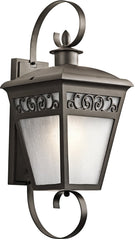 0-017350>30 inchh Park Row 1-Light Outdoor Wall Olde Bronze