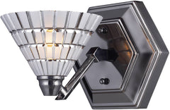 0-018689>Viseu 1-Light Halogen Wall Sconce Black Chrome