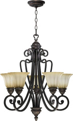 0-007049>24 inchw Summerset 5-Light Chandelier Toasted Sienna