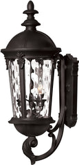 0-004347>OPEN BOX 26 inchh Windsor 3-Light Wall Outdoor Black