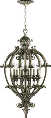 0-005922>20 inchw Barcelona 6-Light Hall/Foyer Pendant Mystic Silver