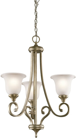 0-025727>Monroe 3-Light Sterling Gold Chandelier