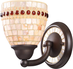 0-011938>6 inchw Roxana 1-Light Sconce Aged Bronze