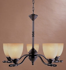 0-007724>24 inchw Apollo 5-Light Chandelier Oil Rubbed Bronze