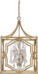 0-029821>18 inchw Blakely 4-Light Foyer Chandelier Antique Gold
