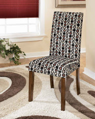 0-009602>Set of 2 Onyx Dining Chairs Medium Brown