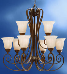 0-031422>31 inchw Willowmore 9-Light Chandelier Tannery Bronze