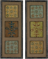 0-011778>36 inchh Spanish Tile Wall Decor Distressed Black