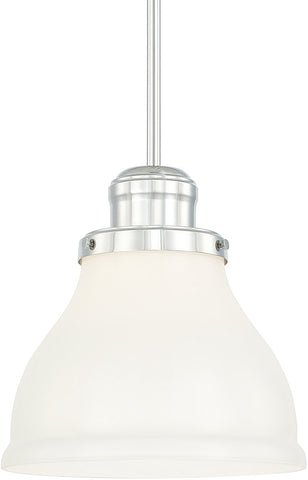 0-016865>Baxter 1-Light Pendant Polished Nickel