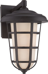 0-024253>9 inchw Triton 1-Light Wall Lantern Aged Bronze Patina